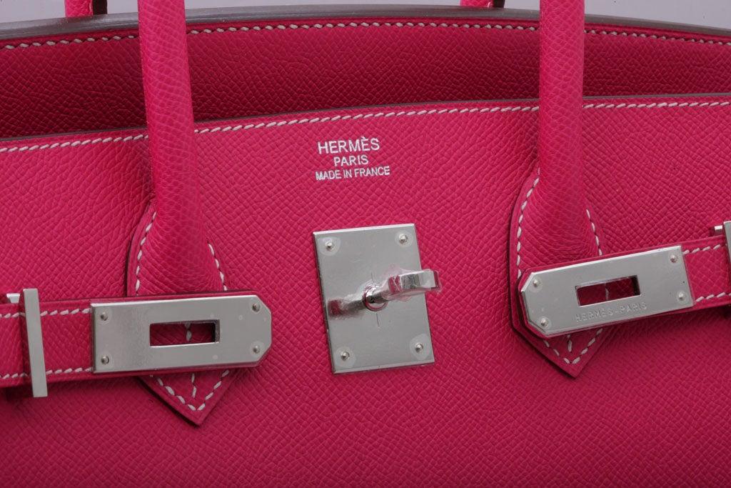HERMES Birkin Rose Tyrien 35cm For Sale 2