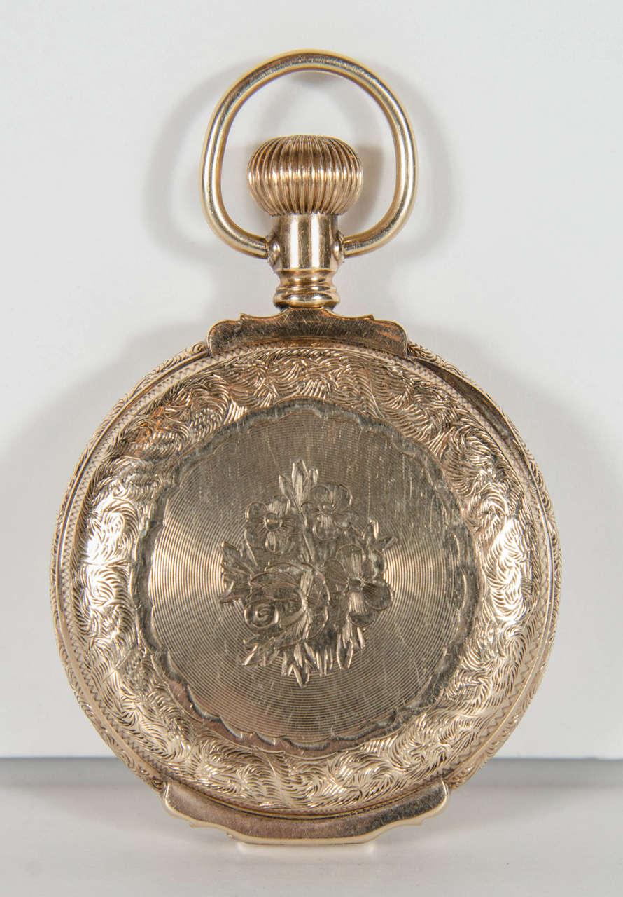 waltham yellow gold antique americano pocket at 1stdibs