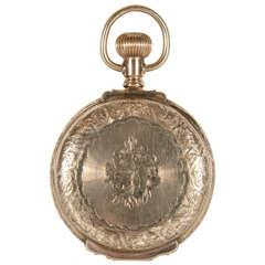Waltham Yellow Gold Antique Americano Pocket Watch