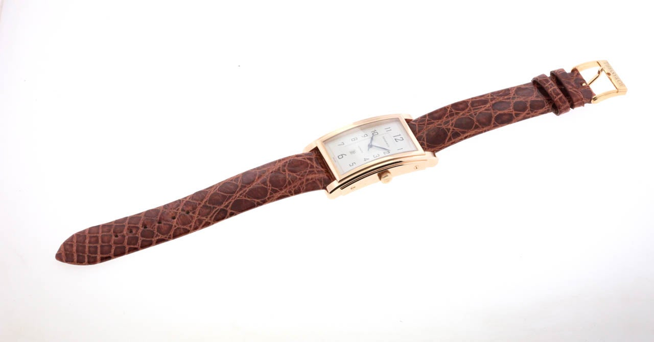 Tiffany & Co Rose Gold Grand Automatic Rectangular Wristwatch with Date 1