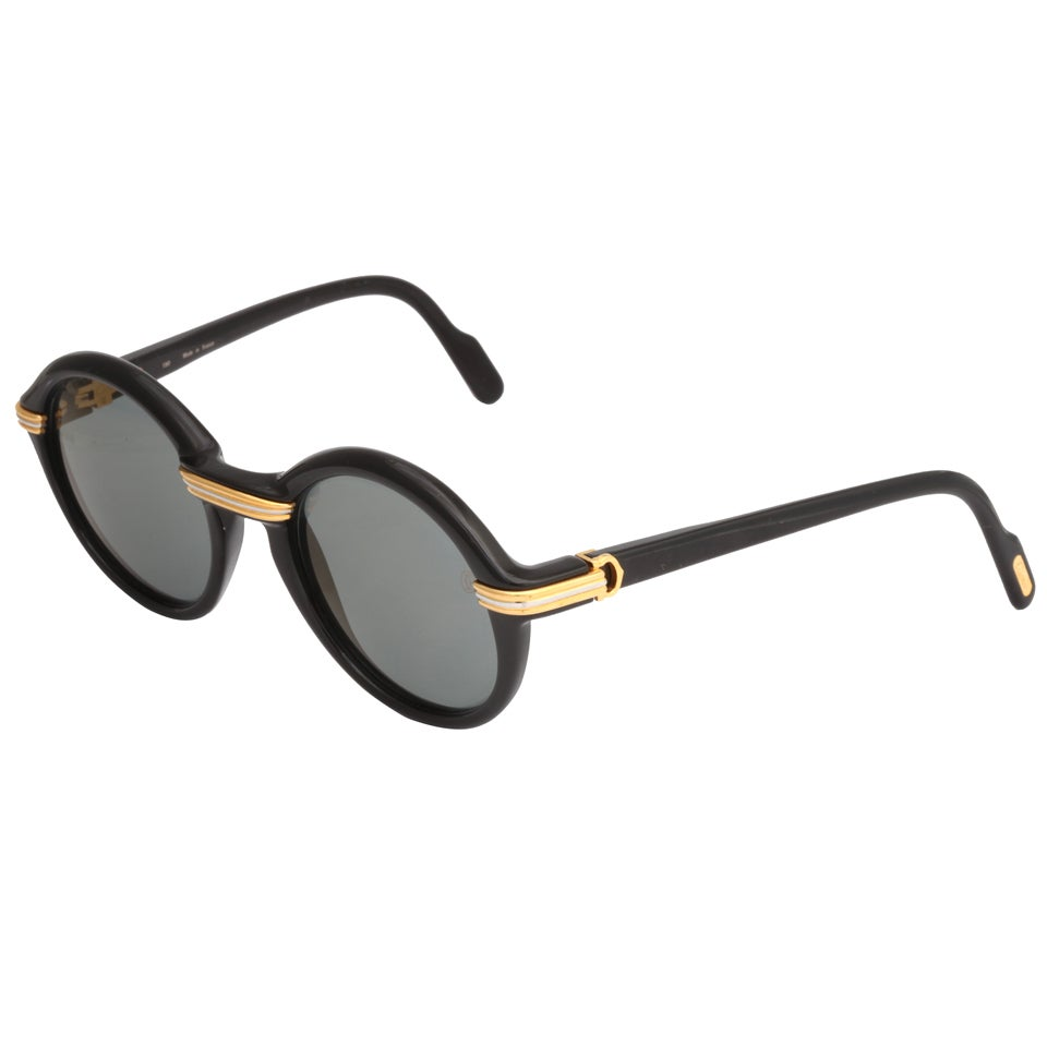 Black Frame Accessory Glasses : BLACK CARTIER CABRIOLET SUNGLASSES at 1stdibs