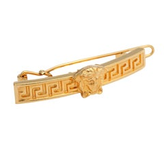 Gianni Versace Hair clip with Medusa and Greek Key