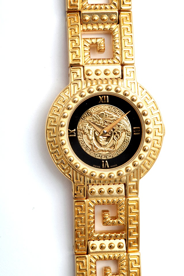 gianni versace gold with medusa and greca at 1stdibs