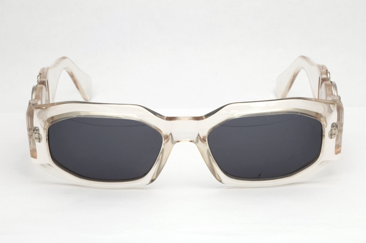 Gianni Versace Clear Sunglasses Mod 414/B Col 924 2
