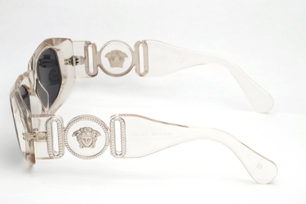 Gianni Versace Clear Sunglasses Mod 414/B Col 924 3