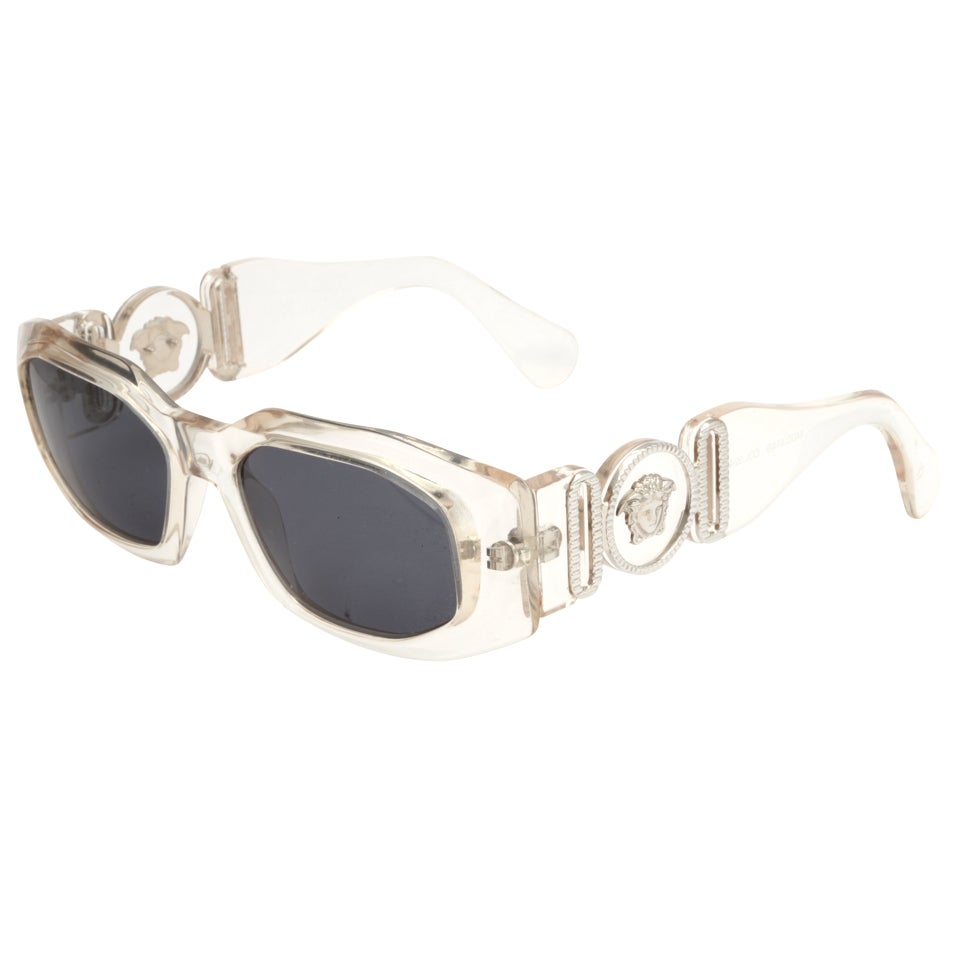 Clear Frame Versace Glasses : Gianni Versace Clear Sunglasses Mod 414/B Col 924 at 1stdibs