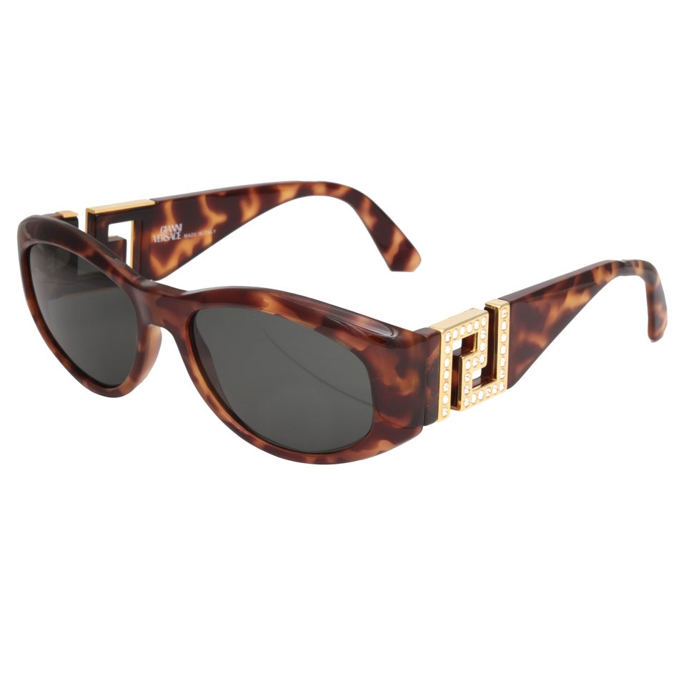 59934eeb4f1c7 Gianni Versace Rhinestone Sunglasses Mod T24 C COL 869 RH at 1stdibs