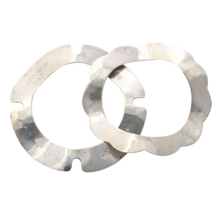 Superb Hand Hammered Silver Bangles.