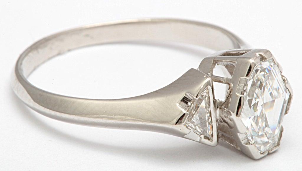 Hexagonal Diamond Engagement Ring 3
