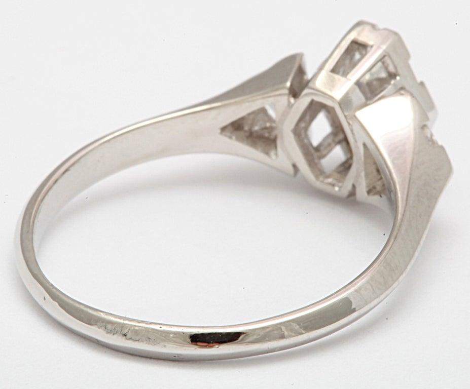 Hexagonal Diamond Engagement Ring 4
