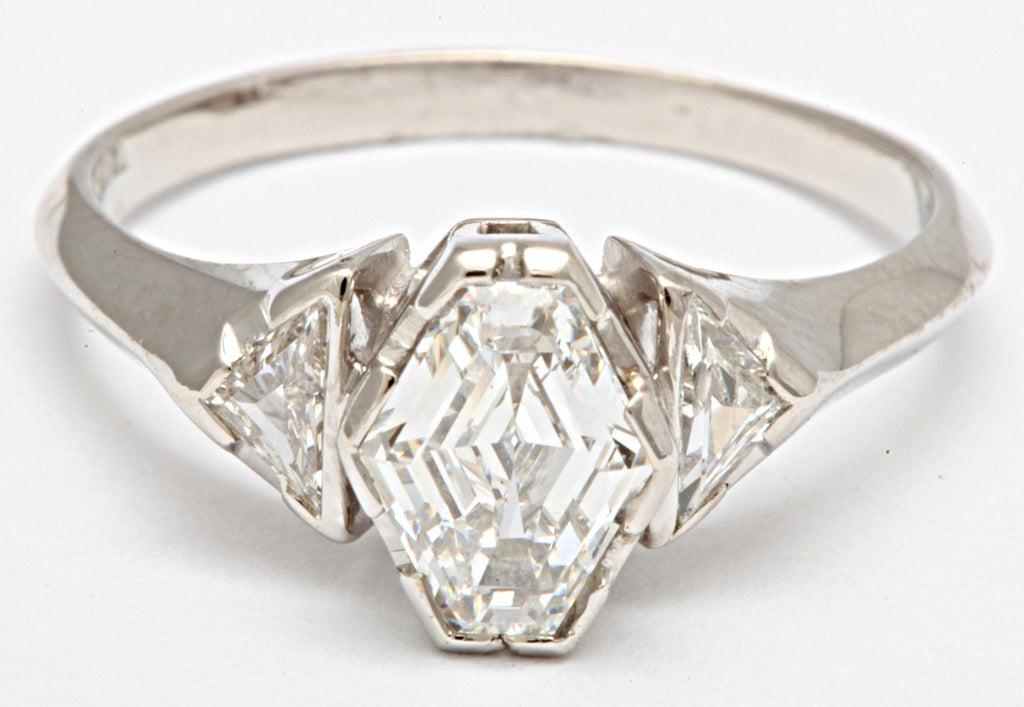 Hexagonal Diamond Engagement Ring 5