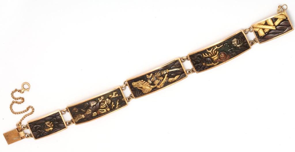 japanese shakudo bracelet c1870 at 1stdibs