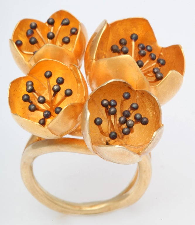 Contemporary Rebecca Koven Buttercup Ring For Sale
