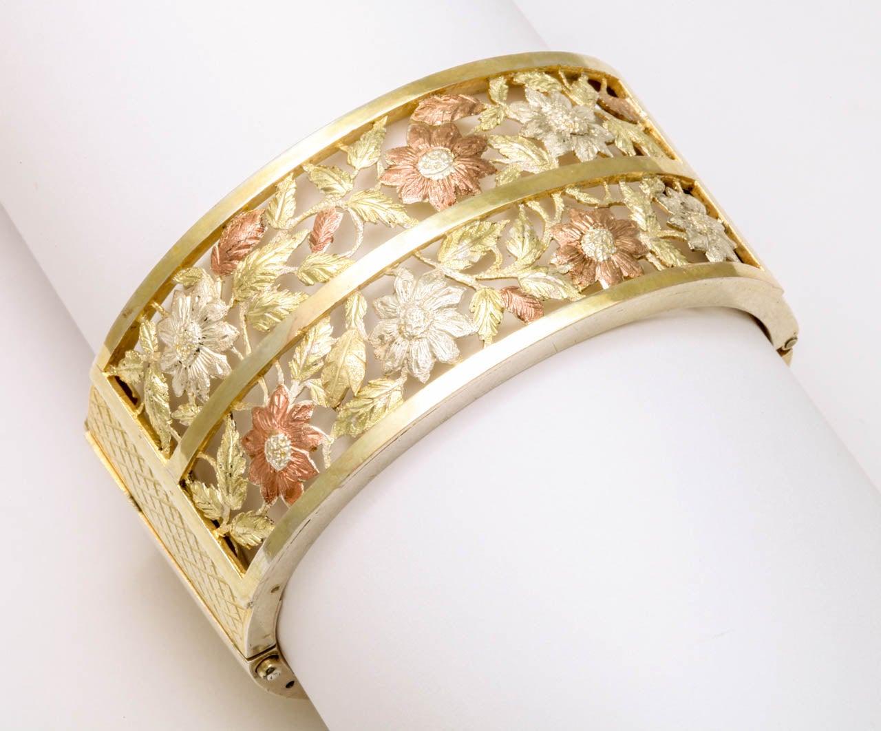 Antique Victorian Silver Gilt Bangle Bracelet For Sale 5