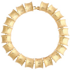 "Gilt ""Bamboo"" Link Necklace"