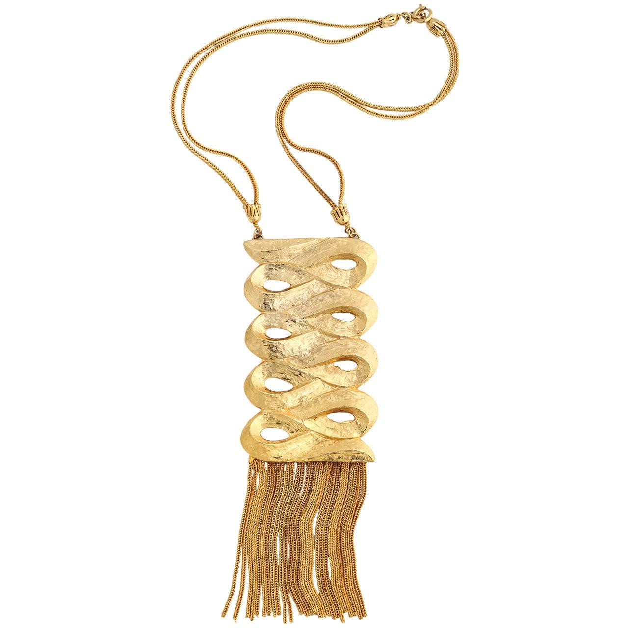Signed Sandor Scroll Necklace