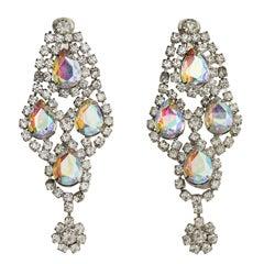 Huge Rhinestone Earrings