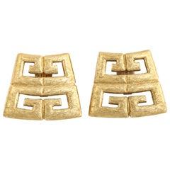 Givenchy Logo Gilt Earrings