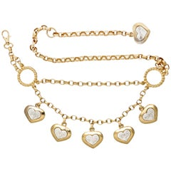 Italian Goldtone Heart Belt, Costume Jewelry