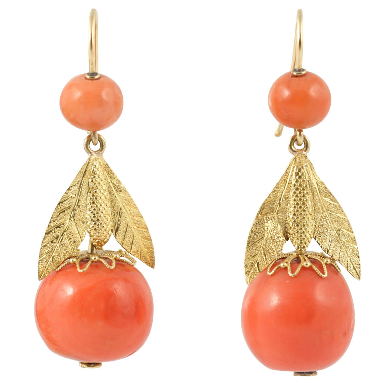 Regency Coral Earrings At 1stdibs