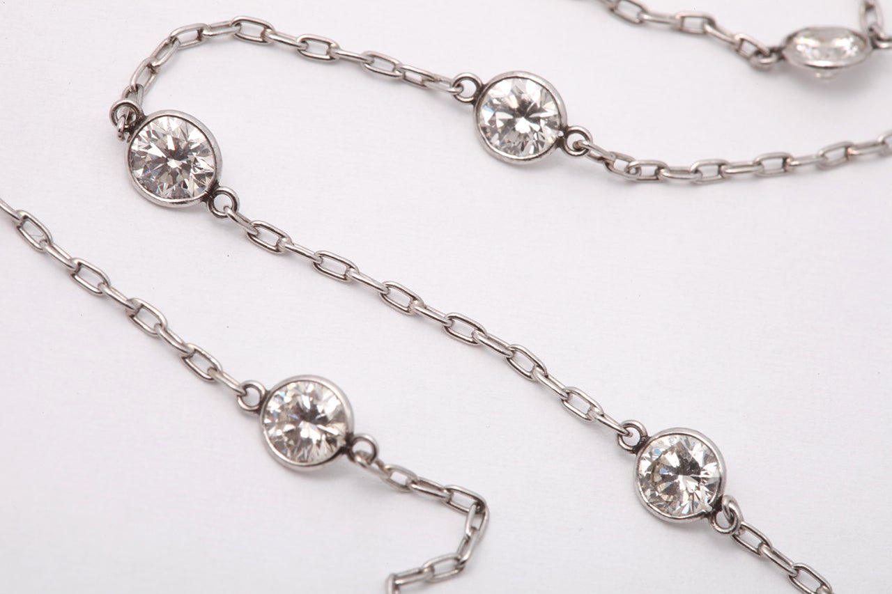 15 by yard platinum chain necklace at 1stdibs