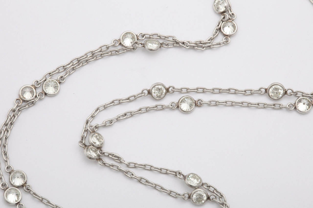 1950 s platinum and by the yard chain