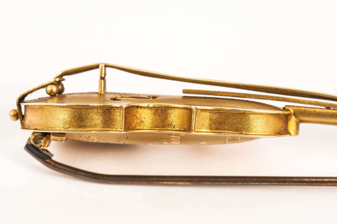 Late 19th Century Gold Violin Brooch 5