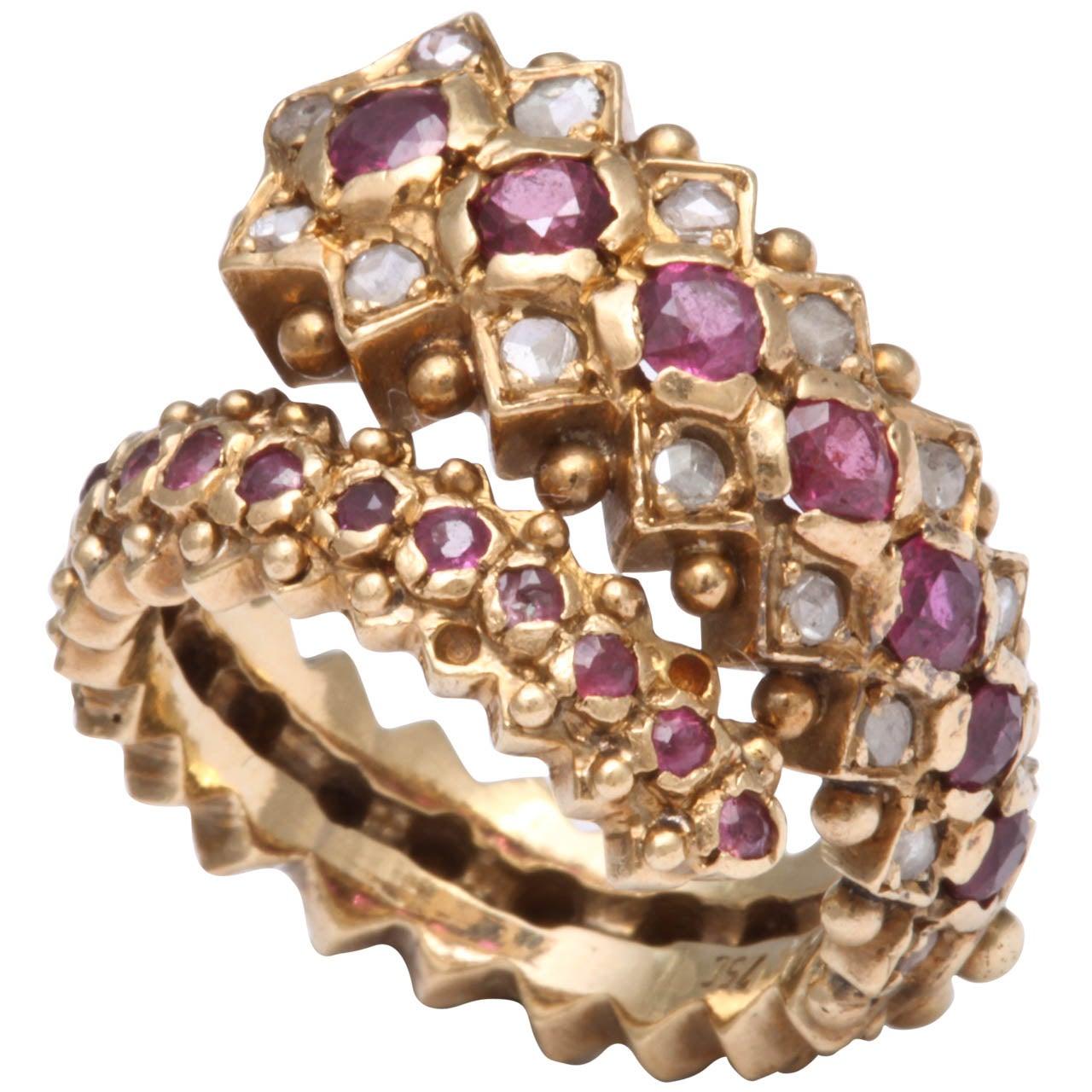 Lalaounis Ruby & Rose Diamond Ring