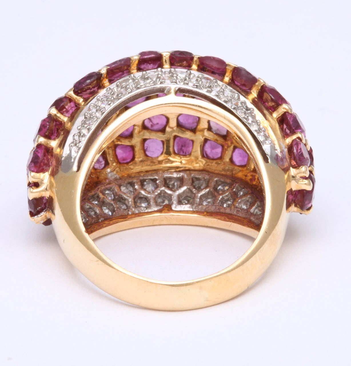 Burmese Ruby & Diamond Ring For Sale 1