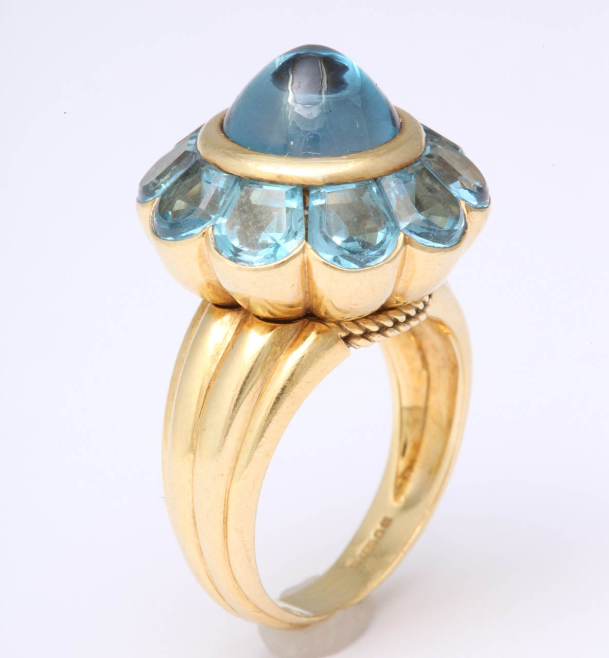 Rayner Blue Topaz Ring In Excellent Condition For Sale In New York, NY