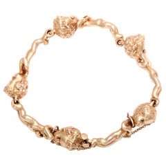 Ruser Delightful Child or Children of the Week Gold Bracelet
