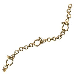 Hermes Chaine D Ancre Bracelet In Pink Gold At 1stdibs