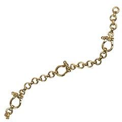 Hermes 18 kt Gold Equestrian Bracelet Presented by Funky Finders