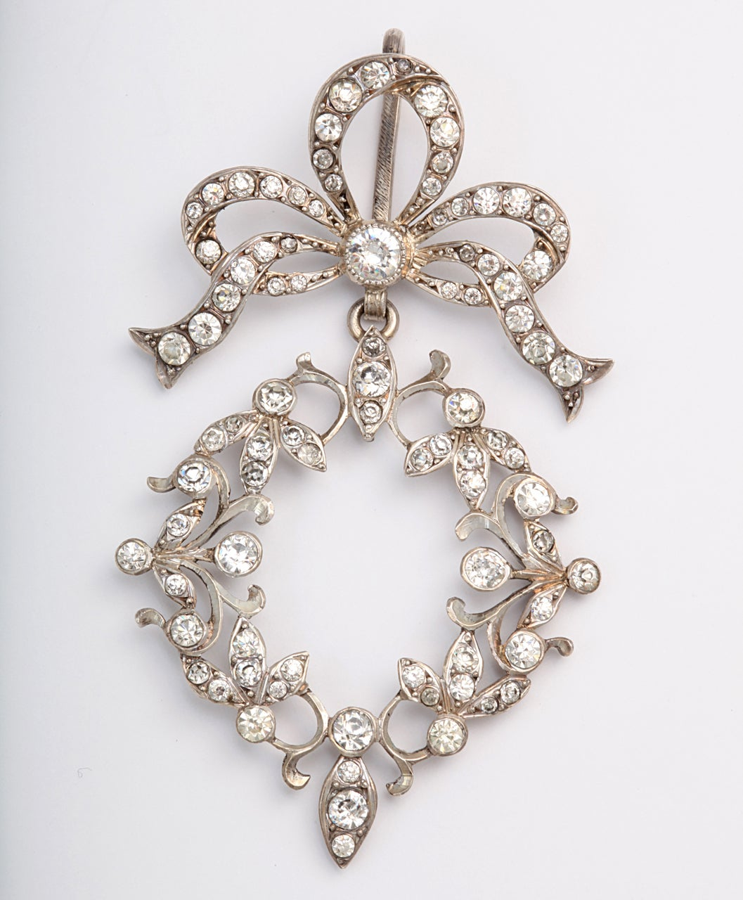 A beautifully decorative French pendant that is delightfully feminine on the neck. and an unique piece of Art Nouveau jewelry.  This pendant was a treasure to find and will be a prize piece of jewelry for a woman to wear. French paste of the period