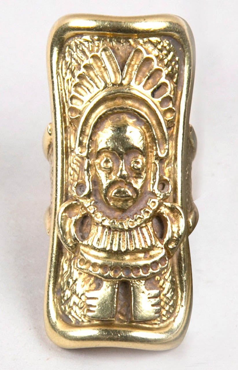 Handmade Gold Ancient Motif Ring Presented by Carol Marks 5