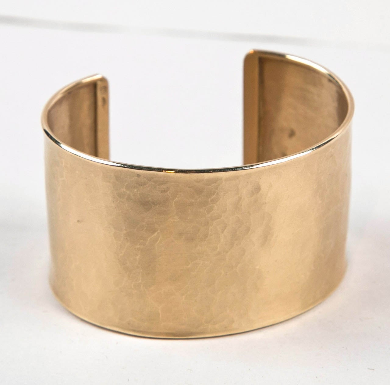 Handmade Pounded Gold Cuff Bracelet Presented by Jewelry and Such 6