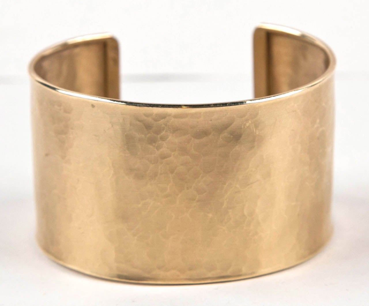 Handmade Pounded Gold Cuff Bracelet Presented by Jewelry and Such 3