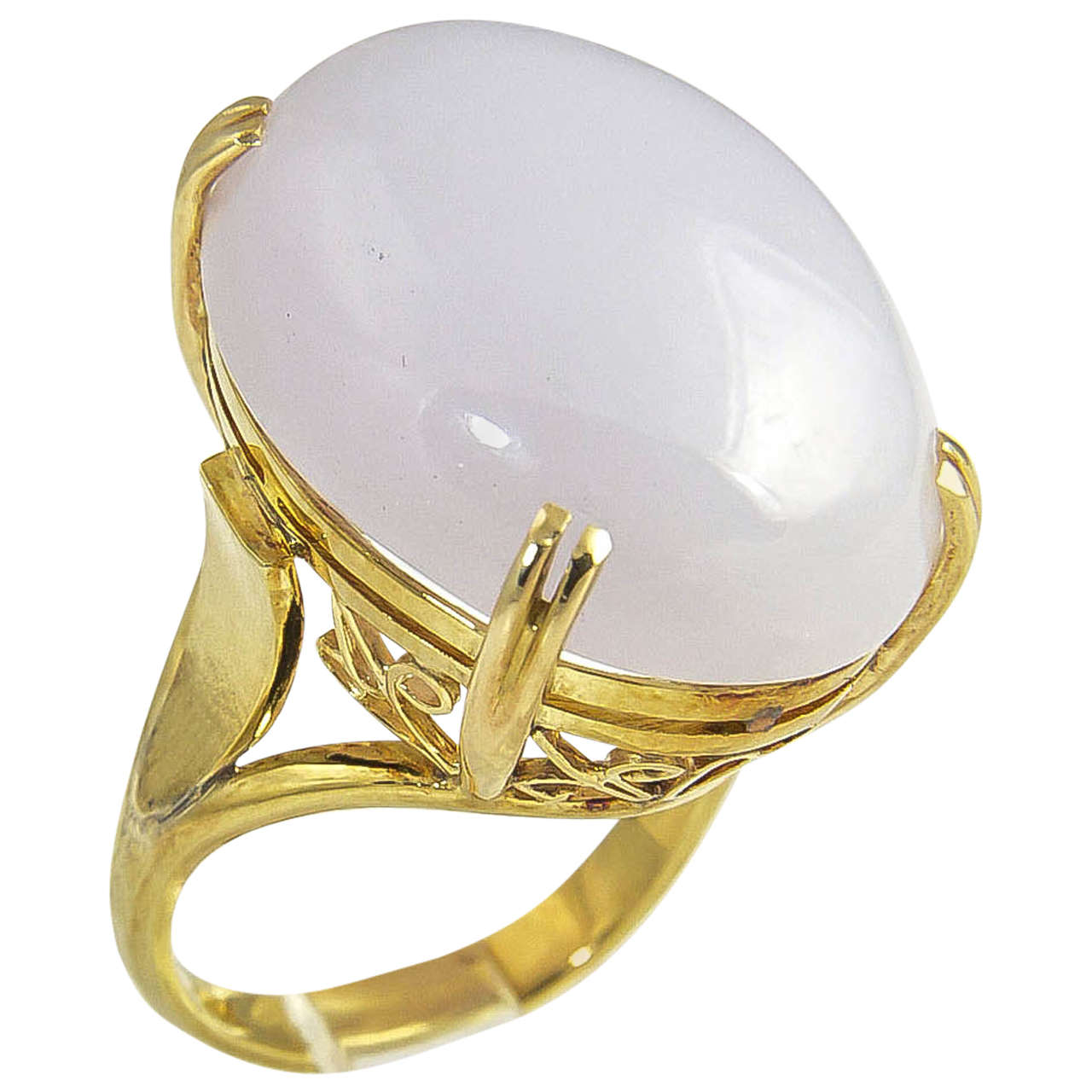 1970s Lavender Jade Gold Ring