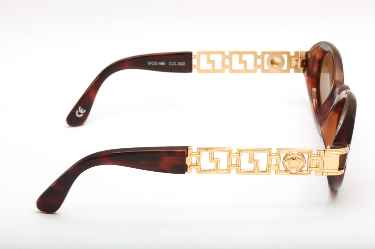 39e539b6e8b Gianni Versace Sunglasses Mod 486 COL 900 at 1stdibs
