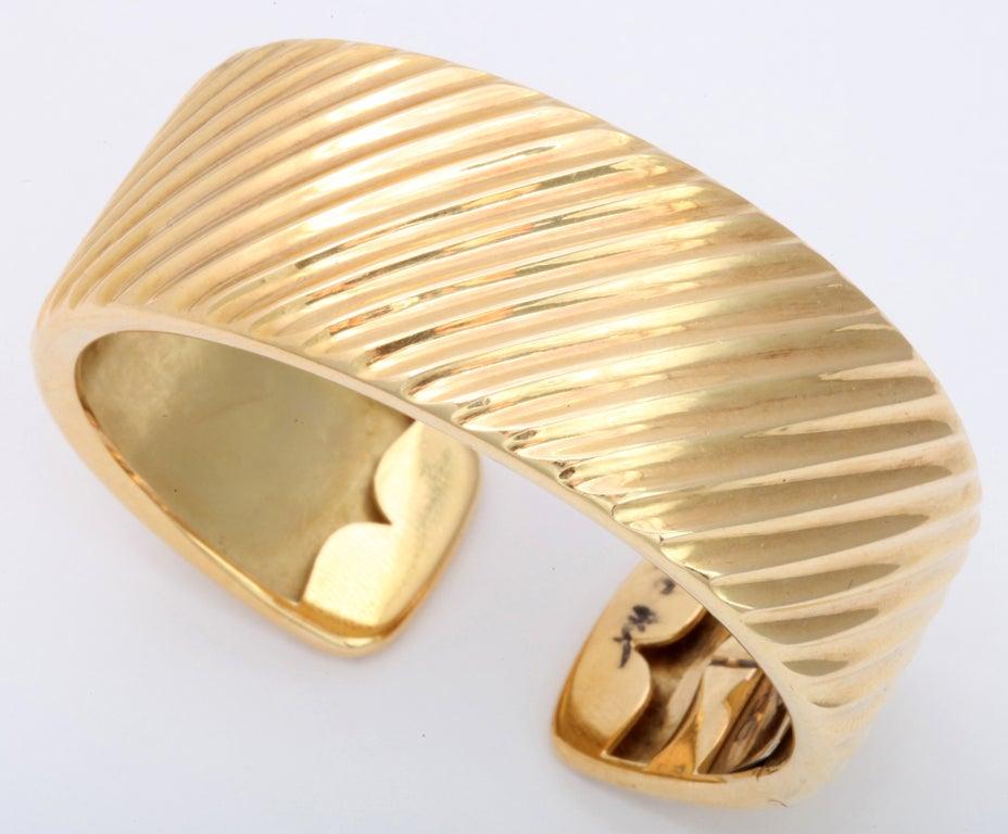 Gold Cuff Bracelet 2