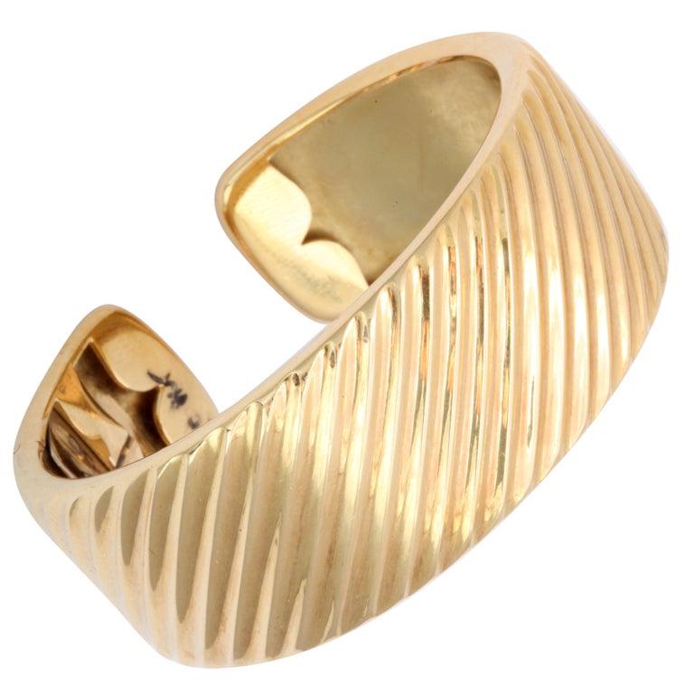 Gold Cuff Bracelet 1