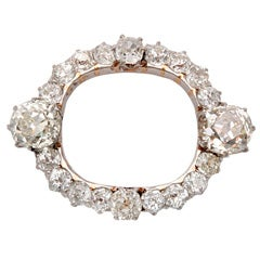 Edwardian Diamond Oval Brooch