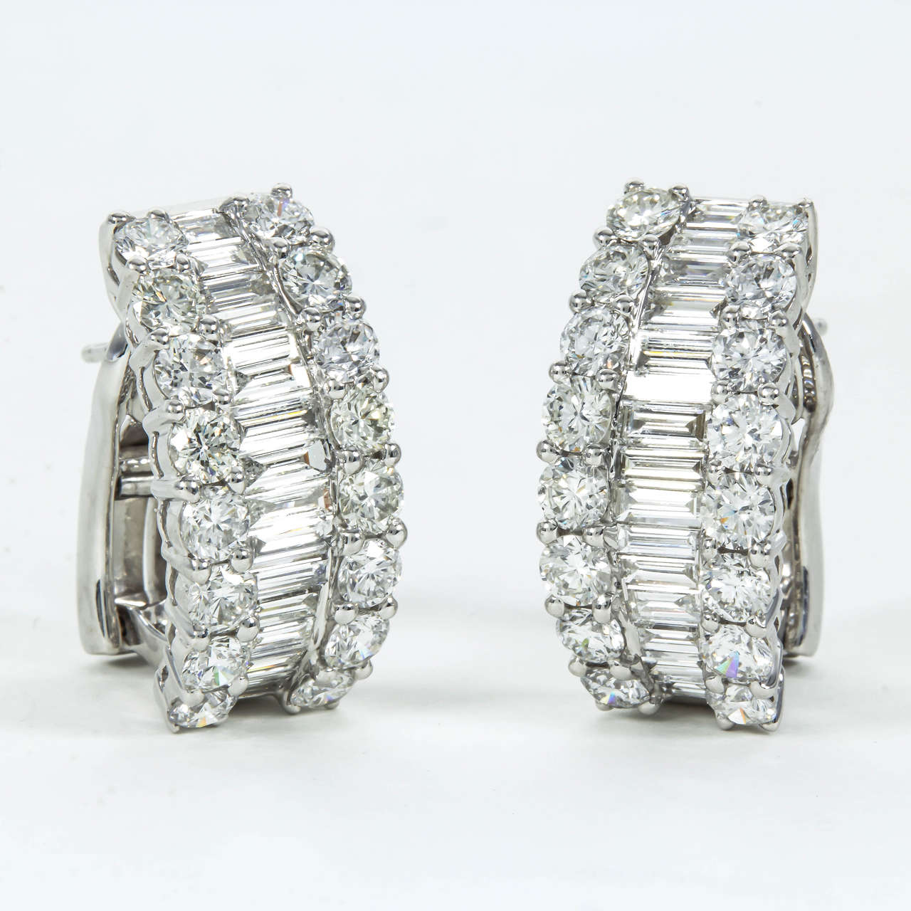 baguette diamonds earrings baguette and gold huggie hoop earrings at 2818
