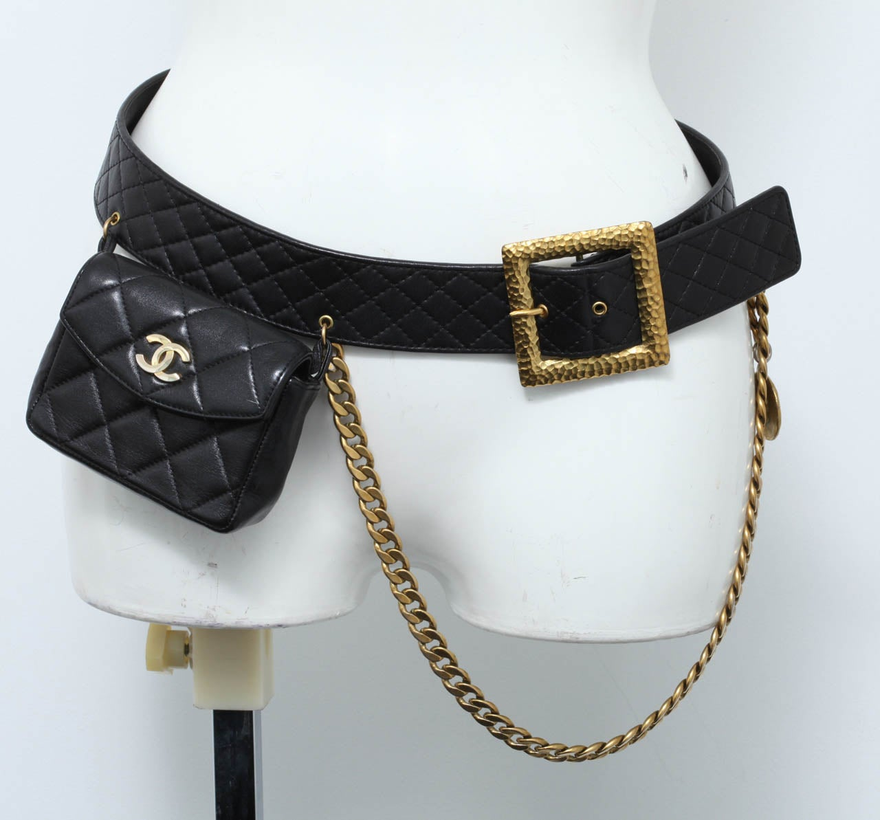 Vintage Chanel Belt with Pack and Gold Chain 2