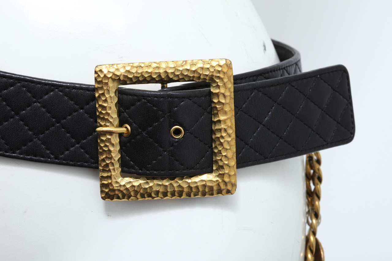 Vintage Chanel Belt with Pack and Gold Chain 5