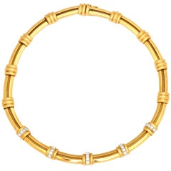 "Gold and Diamond ""Atlas"" Necklace by Tiffany & co"