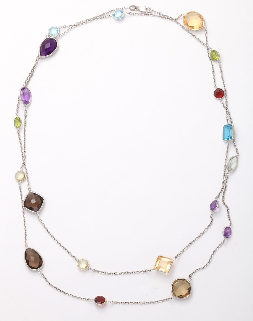 multi gemstone necklace at 1stdibs