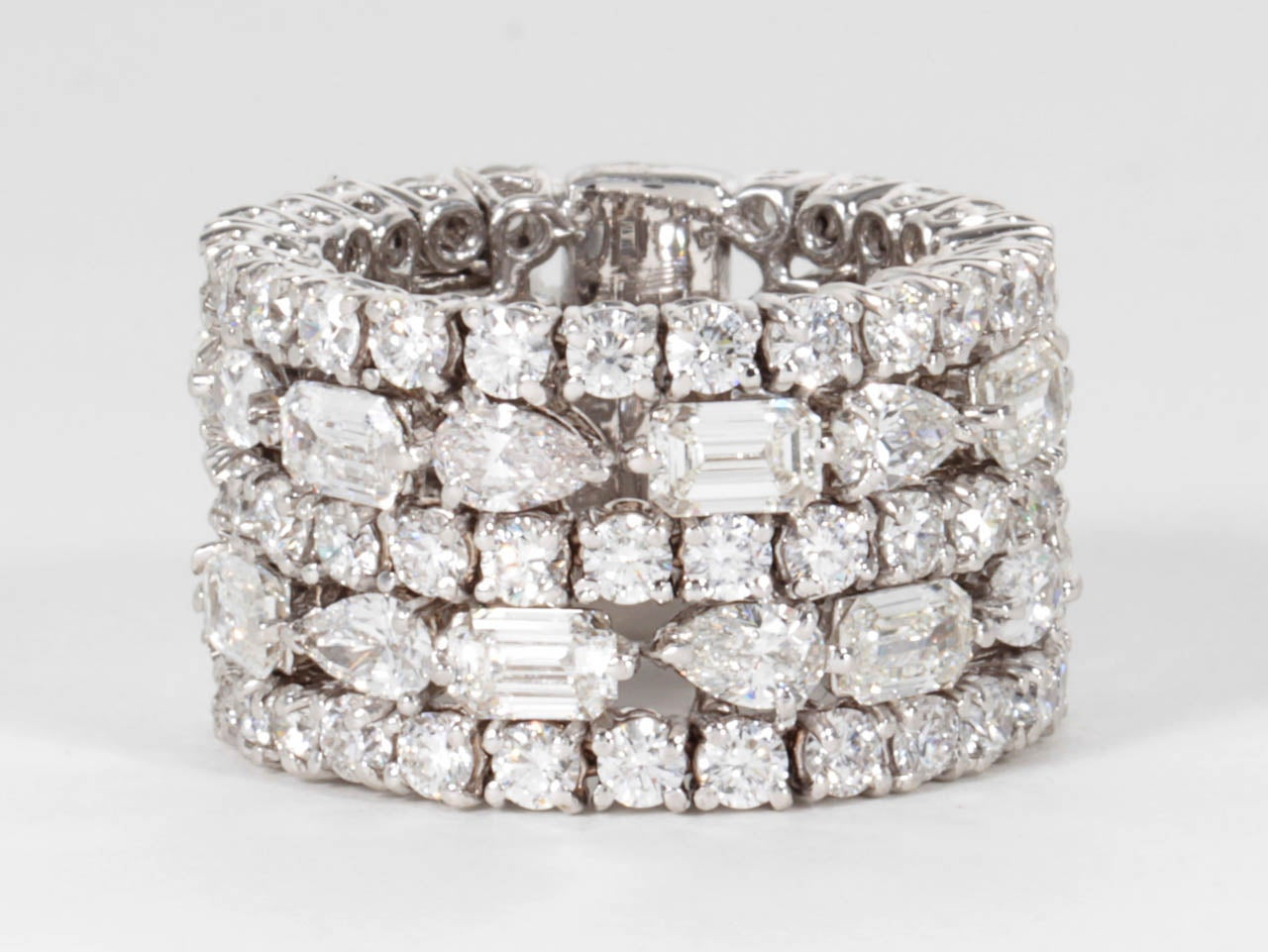 unique multi shape wide band at 1stdibs