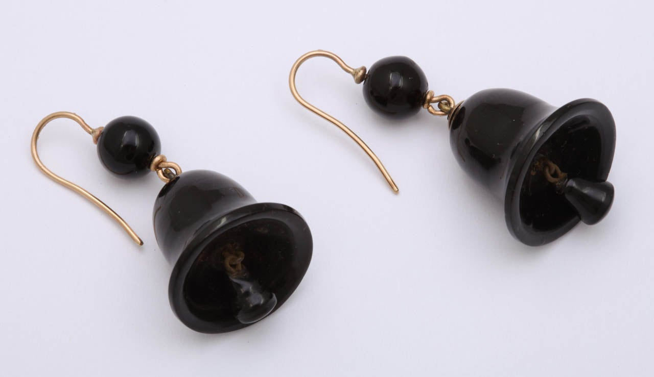 Ringing in the Original Victorian Whitby Jet Earrings 4