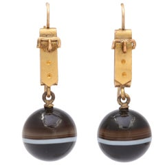Whimsical and Wearable Victorian Banded Agate Earrings